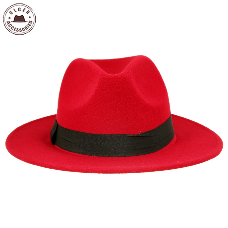 800x800 Hot Sale Cheap Unisex Wool Jazz Hats Mens Fedora Hat Women Felt