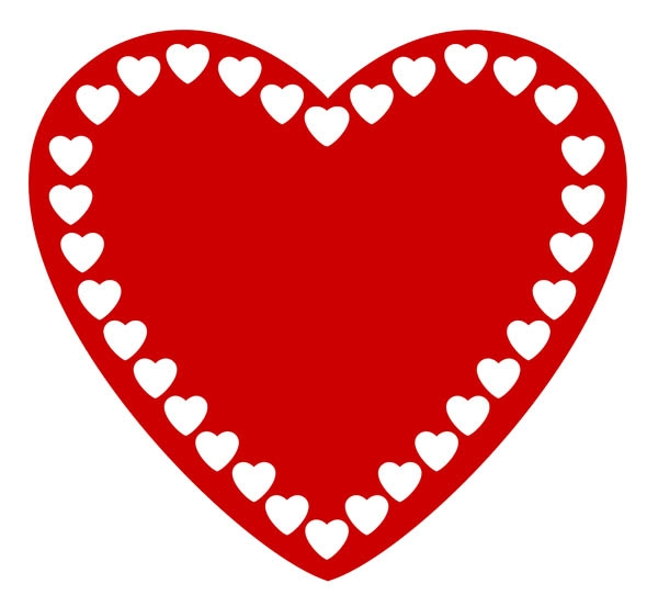 600x542 Red Heart Clipart High Resolution