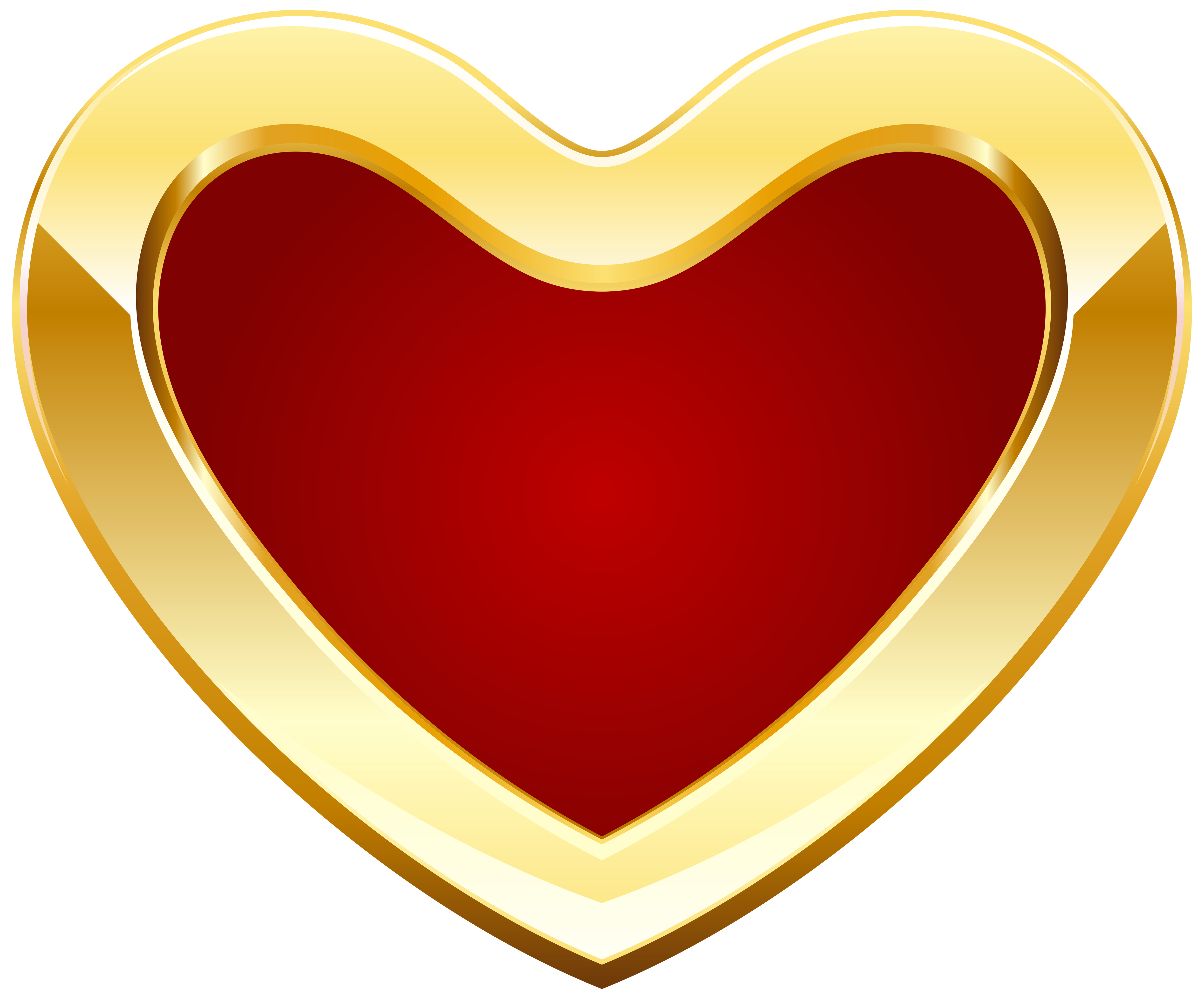 5000x4148 Red And Gold Heart Png Clipart