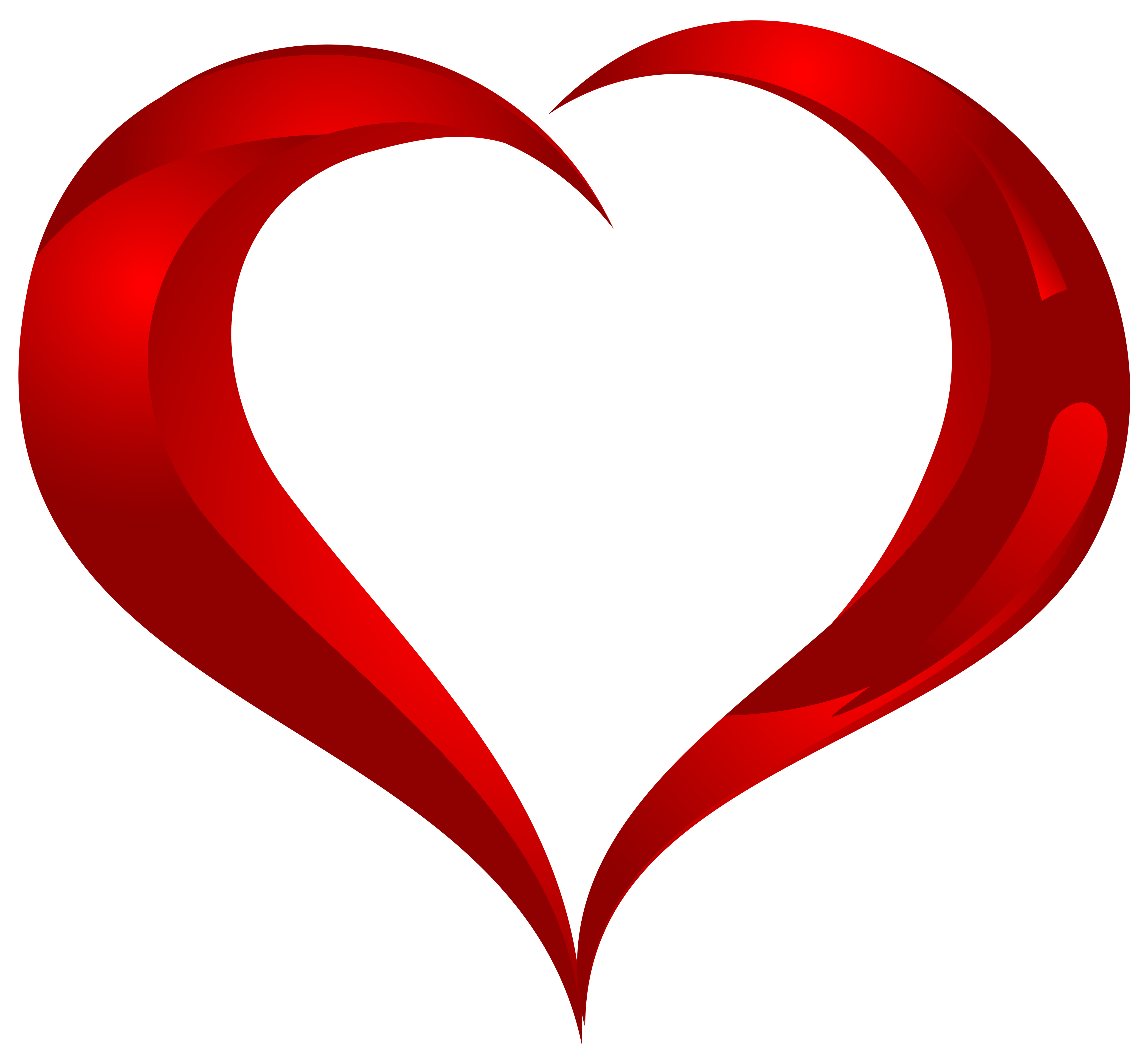5000x4599 Beautiful Heart Png Clipart