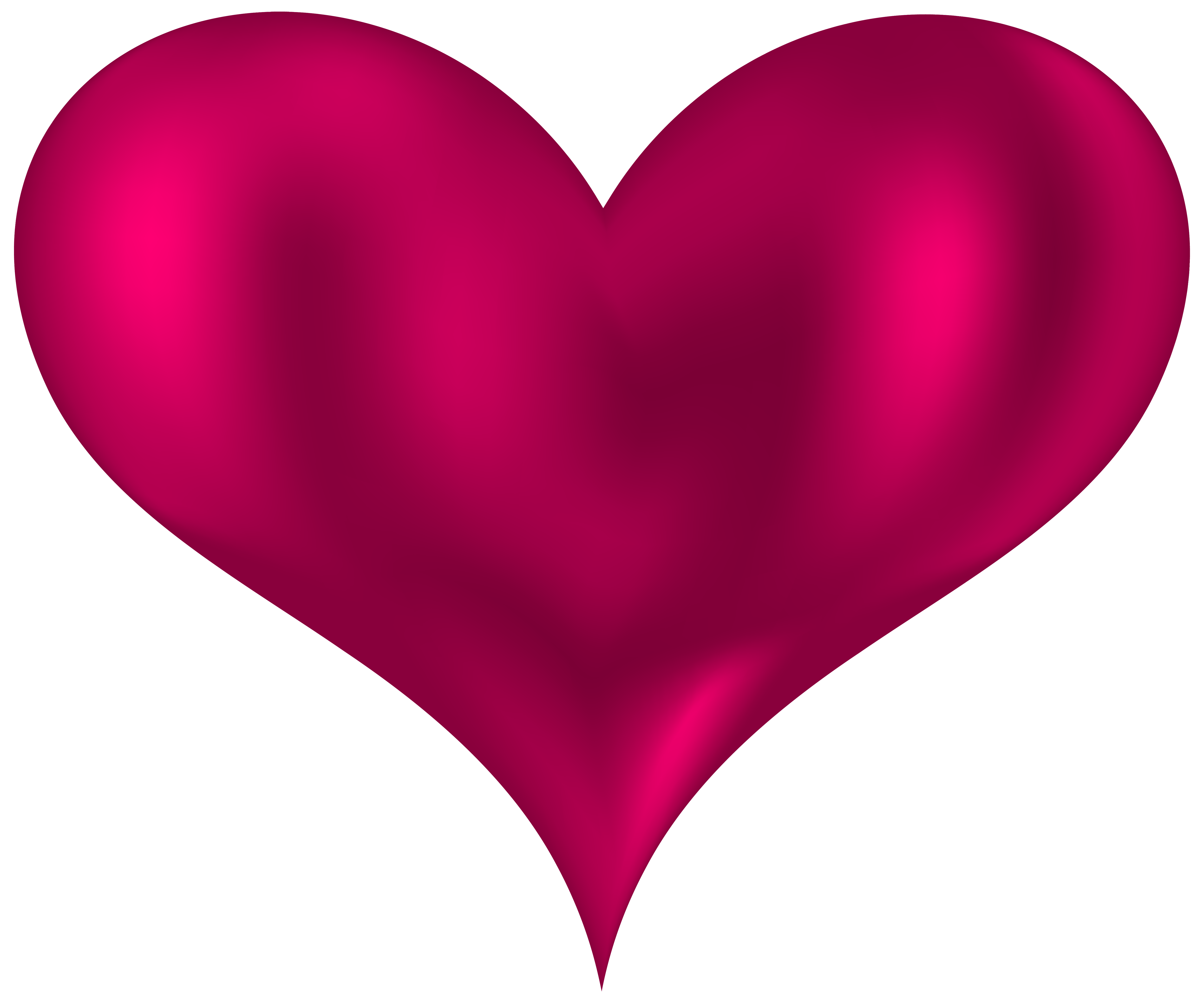 5000x4165 Beautiful Heart Pink Png Clipart