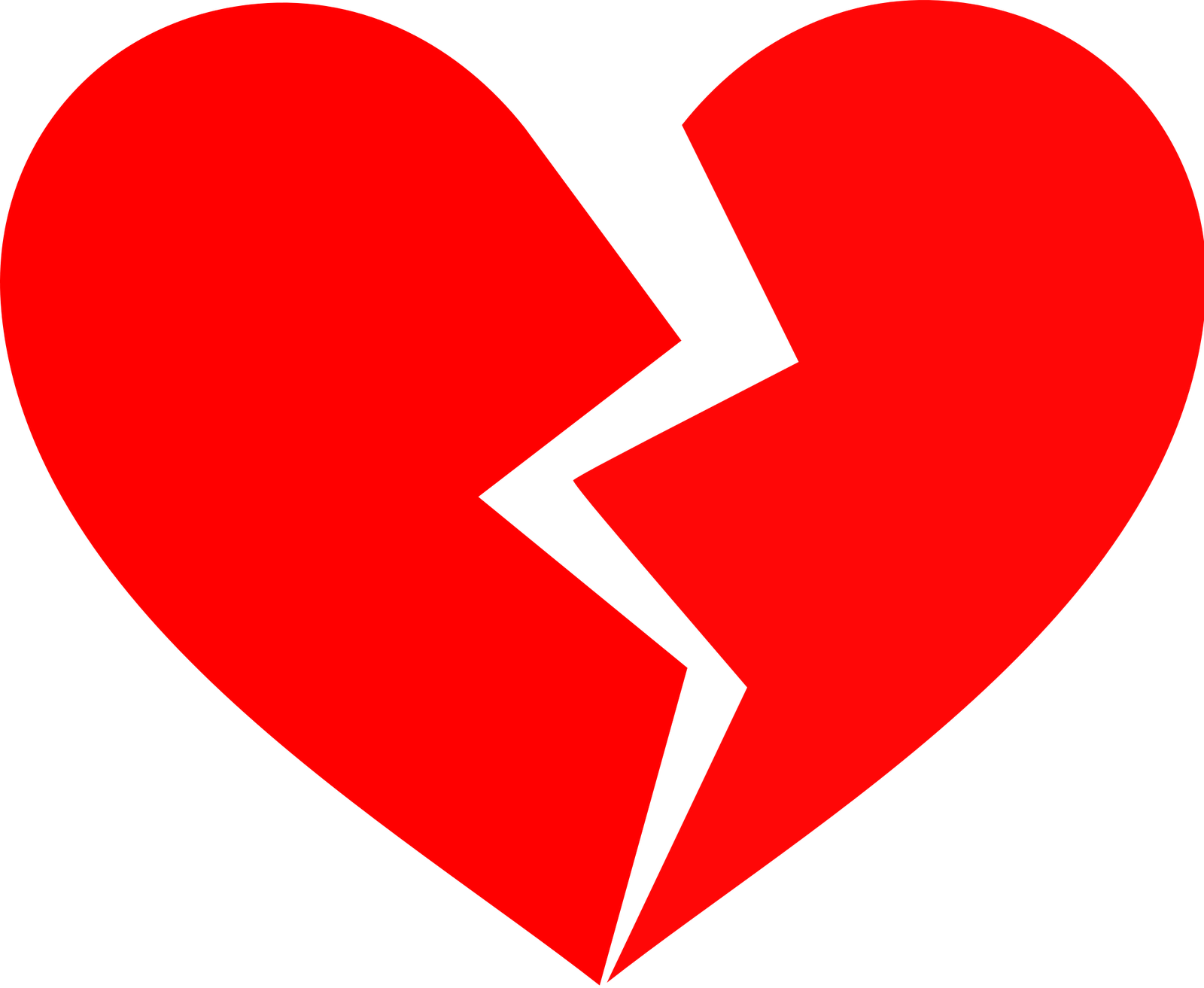 1600x1313 Black Broken Heart Clipart