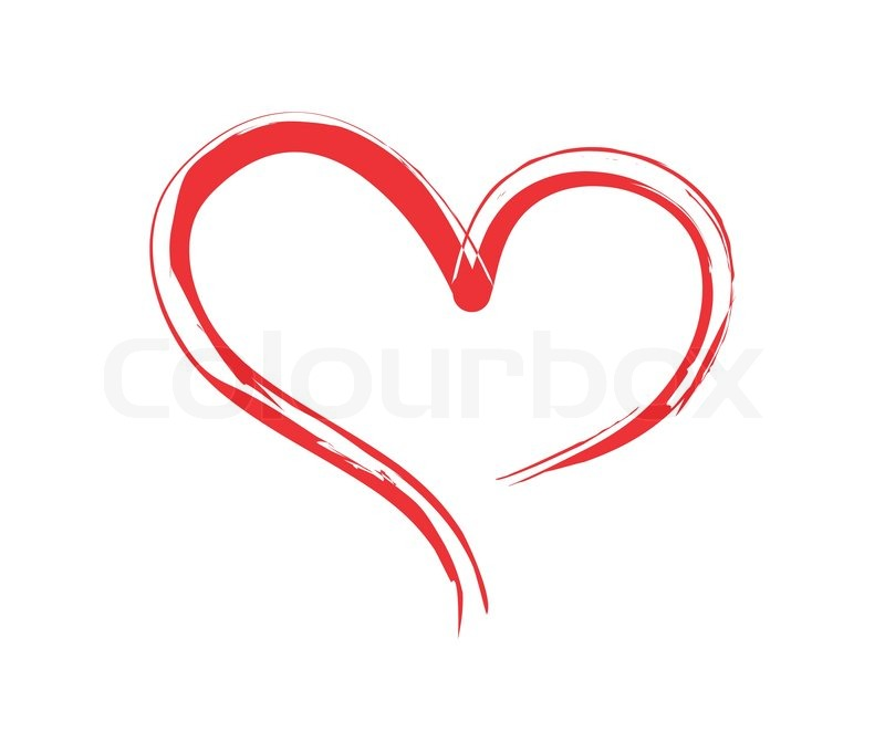 800x681 Brushed Heart.red Shape Heart Stock Vector Colourbox