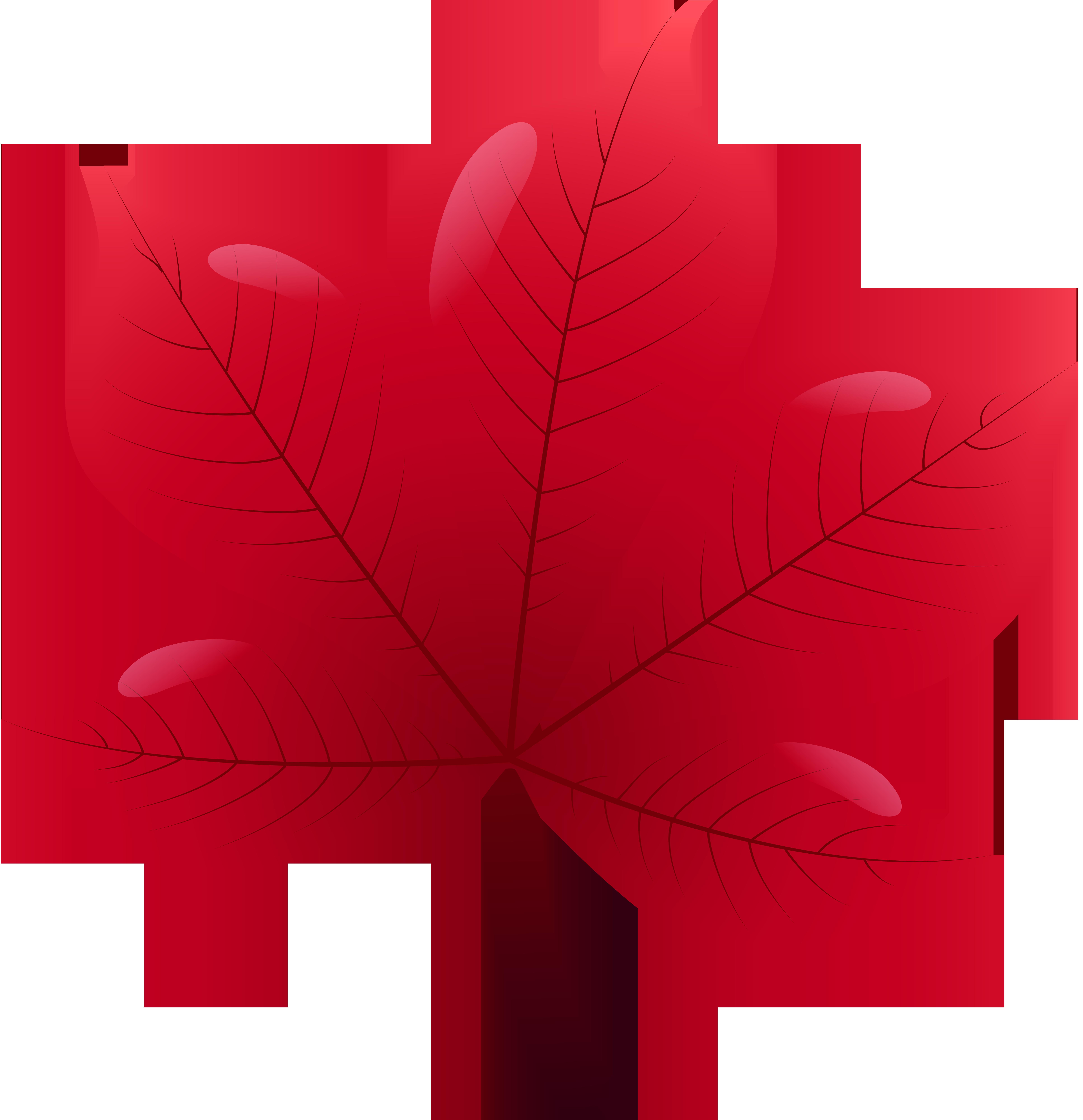 7737x8000 Red Leaf Png Clip Art