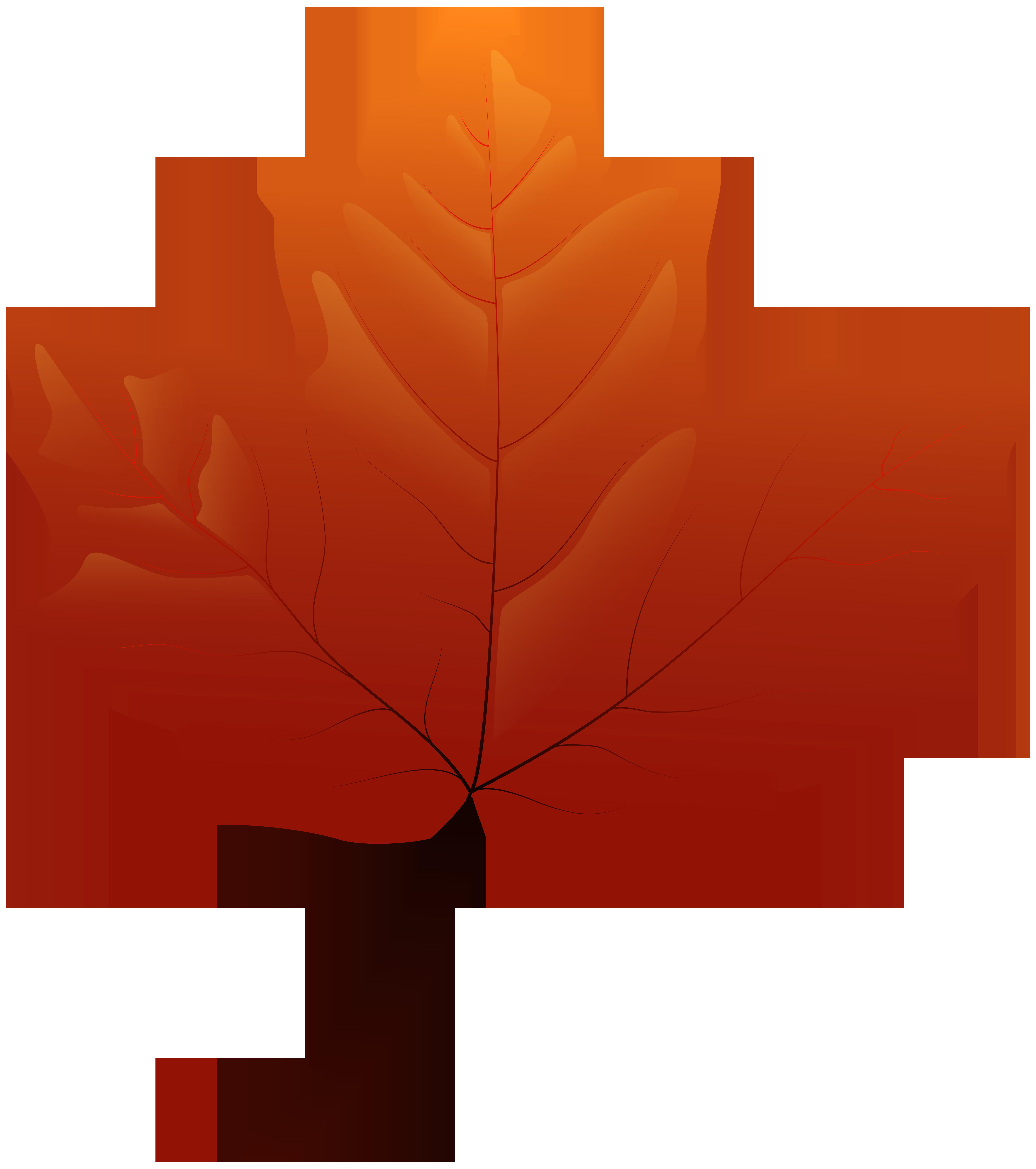 7090x8000 Autumn Leaf Png Clip Art