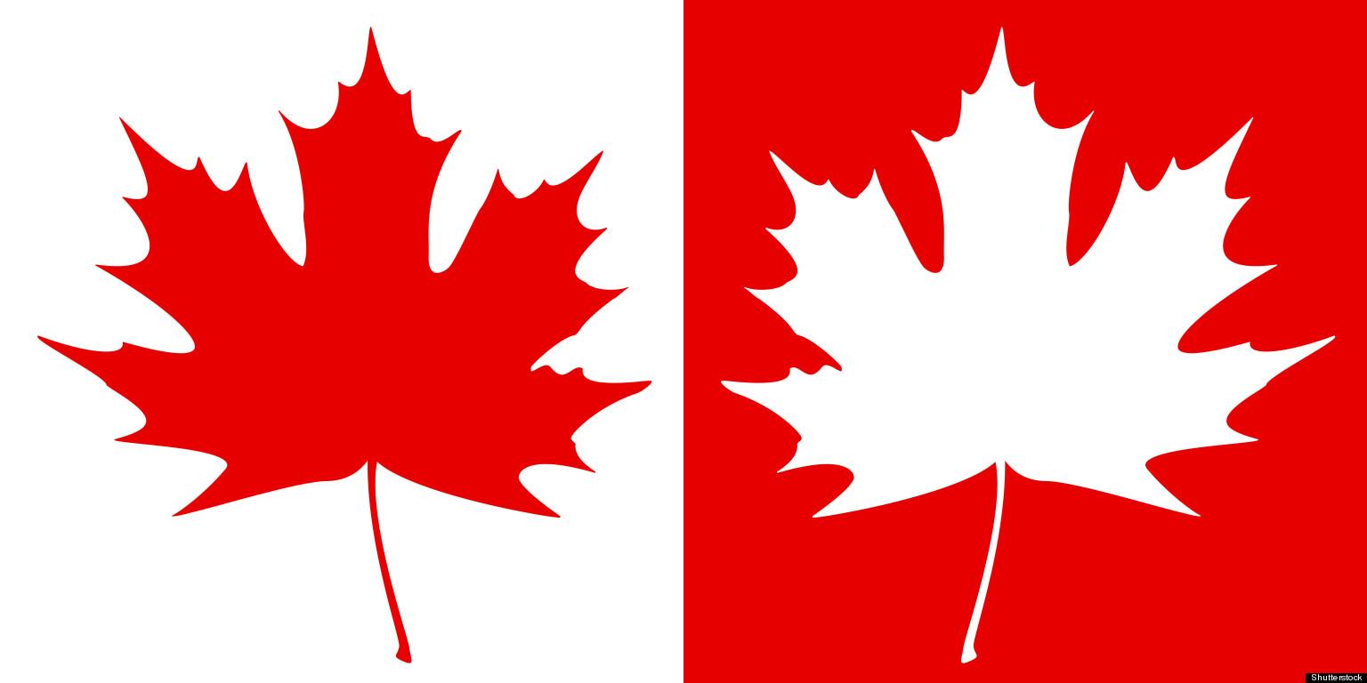1536x768 Maple Leaf Canada White