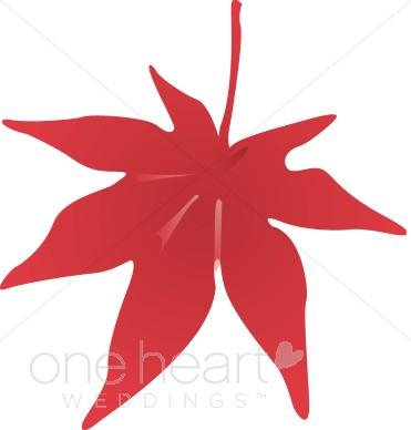 371x388 Red Fall Leaf Clip Art