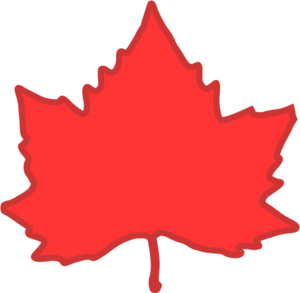 300x293 Red Maple Leaf Vector Clip Art