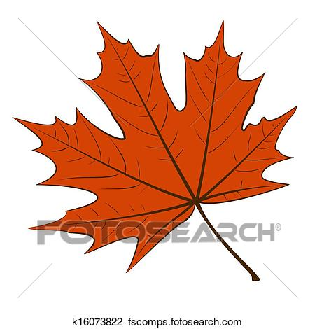 450x470 Clip Art Of Red Maple Leaf K16073822