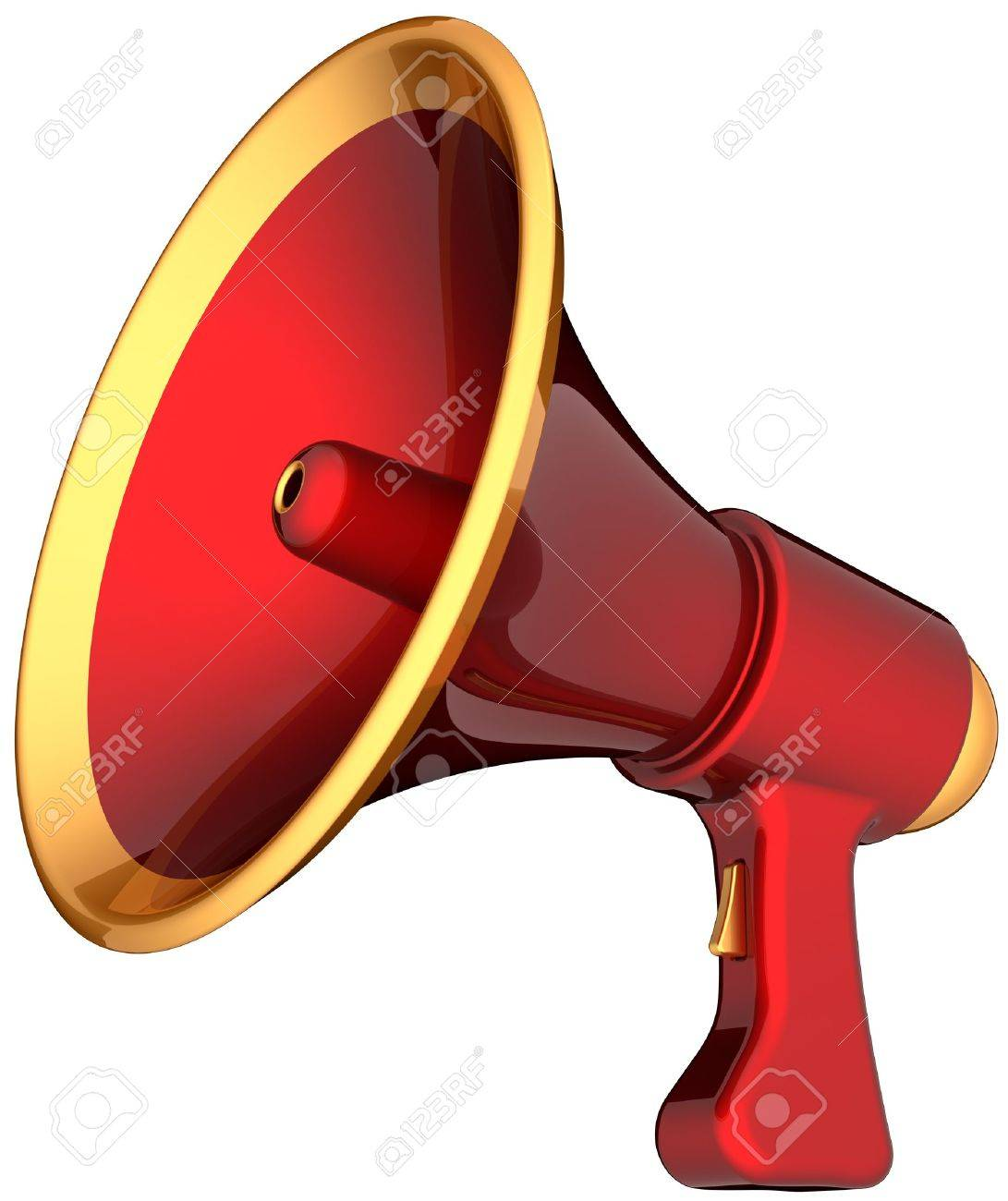 1091x1300 Megaphone Alarm Announcement. Contemporary Shiny Colorful (Red