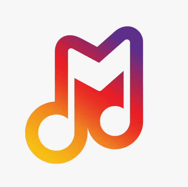 614x612 Stylish, Colorful, Gradual, Musical Notes, Logo, Gradient Color