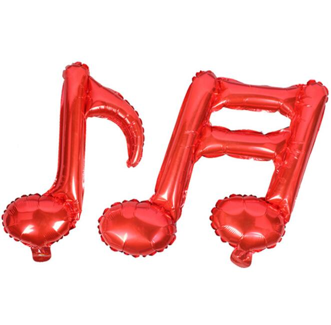 662x650 50pcslot Birthday Foil Globos Music Notes Balloons Wedding Mylar
