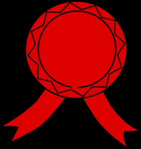 282x299 Red Badge Clip Art