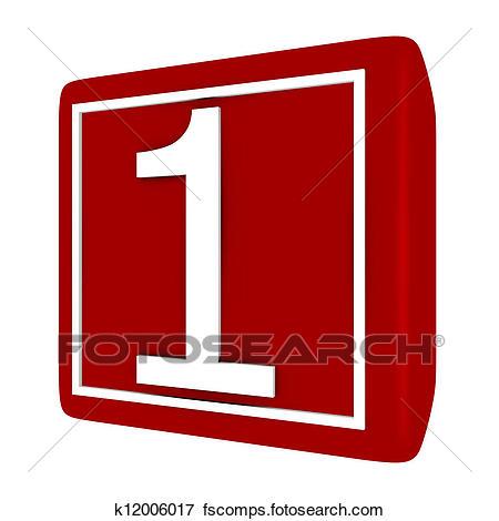 450x470 Stock Illustration Of 3d Render Font Set 1 Number 1 K12006017