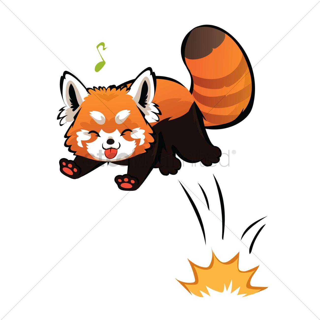 1300x1300 Cartoon Red Panda Being Cheeky Vector Image