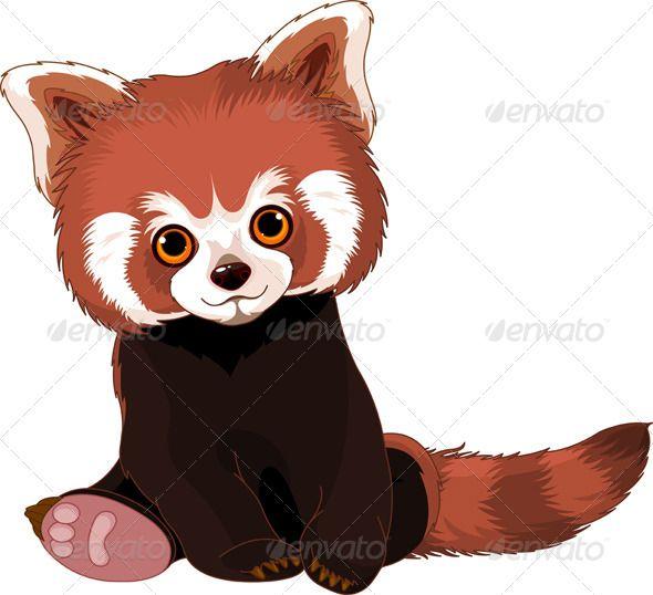 590x538 Drawn Red Panda Super Cute