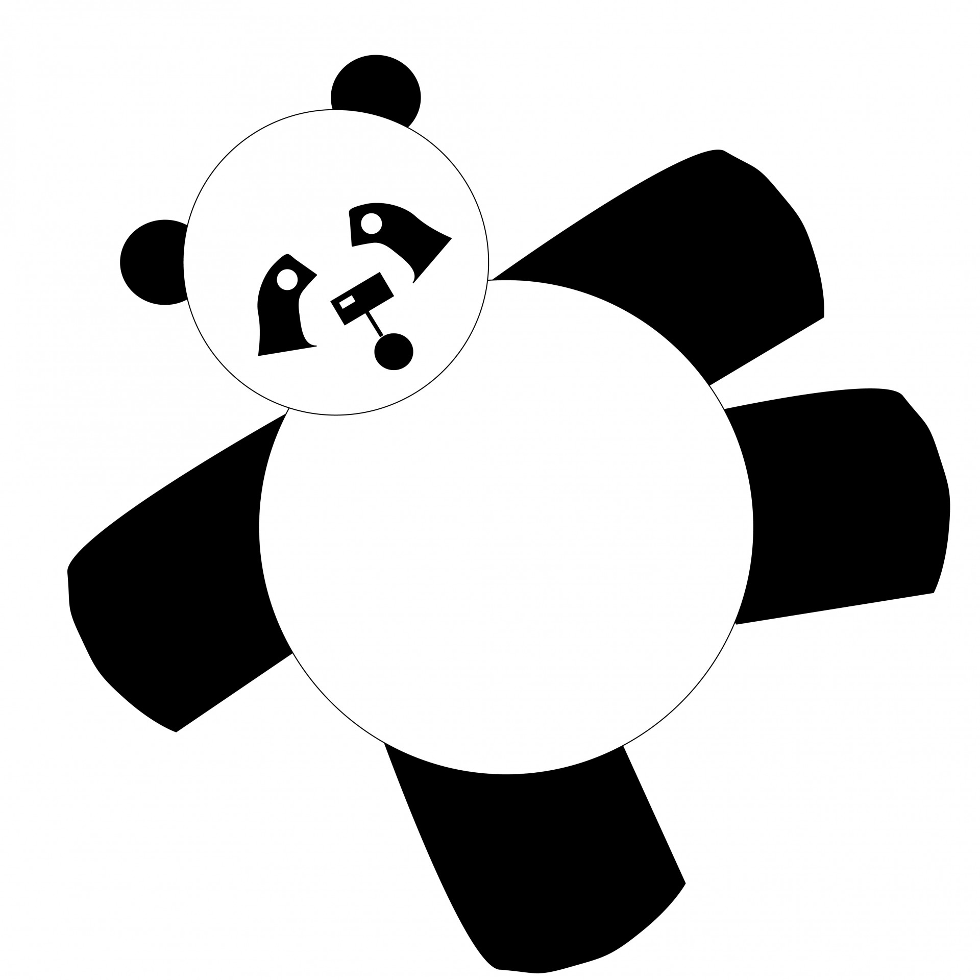 1920x1920 Panda Bear Cartoon Clipart Free Stock Photo