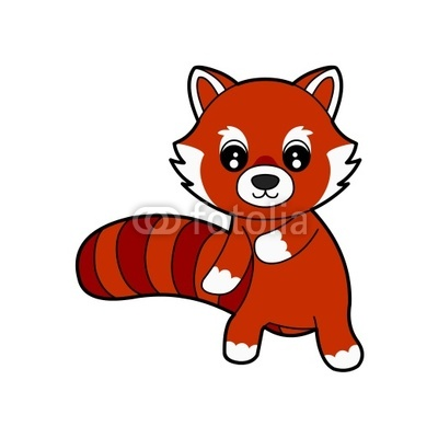 400x400 Red Panda Cartoon Clipart Panda