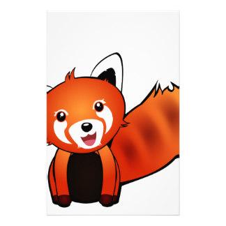 324x324 Red Panda Stationery Zazzle