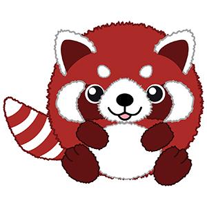 300x300 Red Panda Clipart Wet