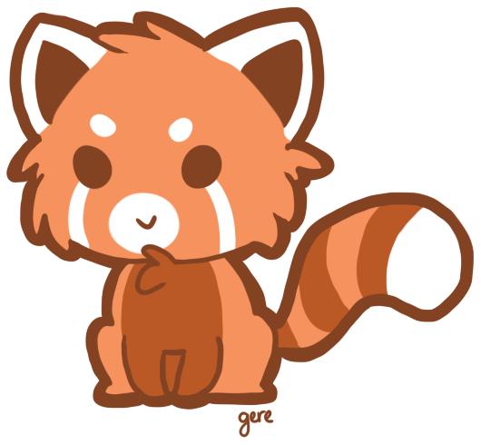 530x490 Red Panda Clipart 5