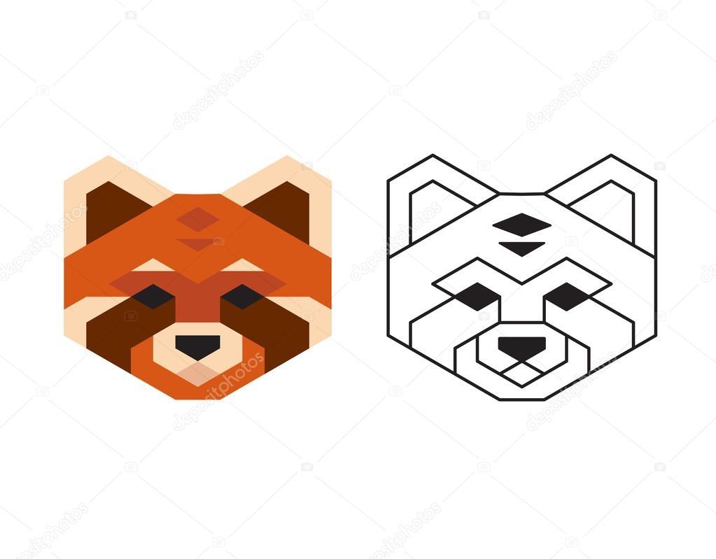1023x799 Red Panda Head Stock Vector Sudowoodo