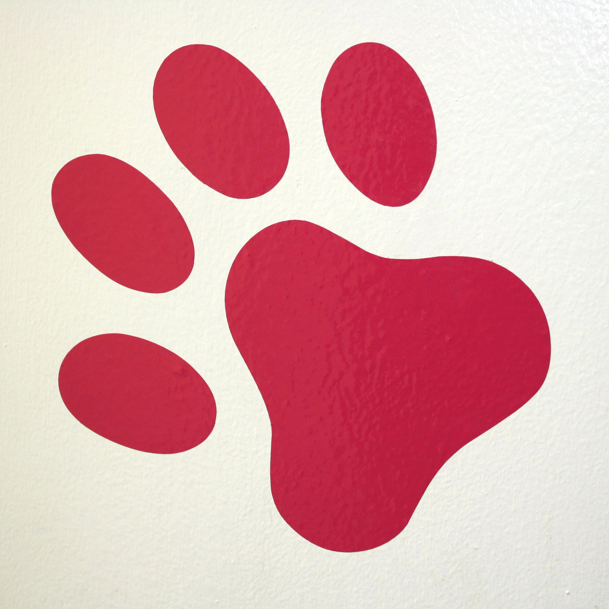 2592x2592 Dog Paw Print Wall Decals Paw Prints Free Download Clip Art Free