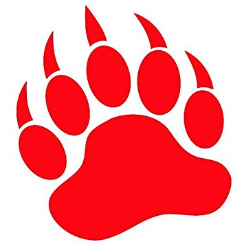 355x355 Image Result For Red Bear Paw Print School Bear