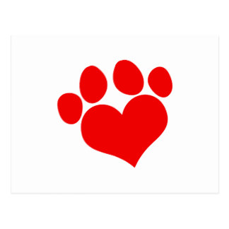 324x324 Paw Print Design Postcards Zazzle