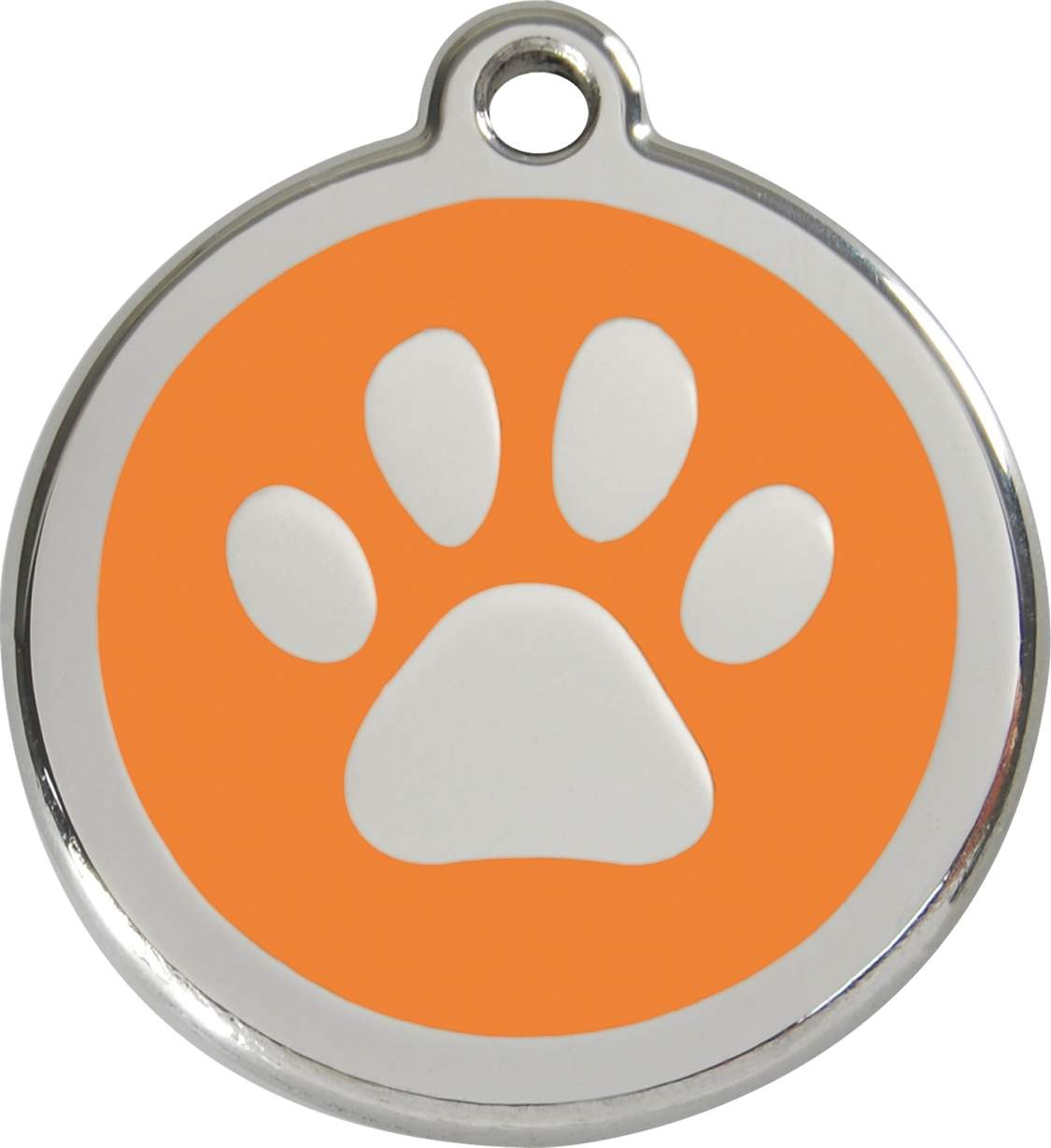 1125x1229 Red Dingo Dog Id Tag Paw Prints Large,
