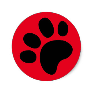 324x324 Red Paw Print Stickers Zazzle