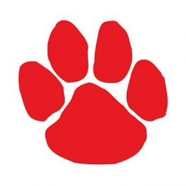 265x265 Red Paw Print Temporary Tattoo Represents Iconic Animals