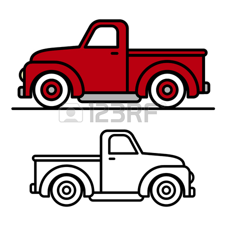 Red Pickup Truck Clipart