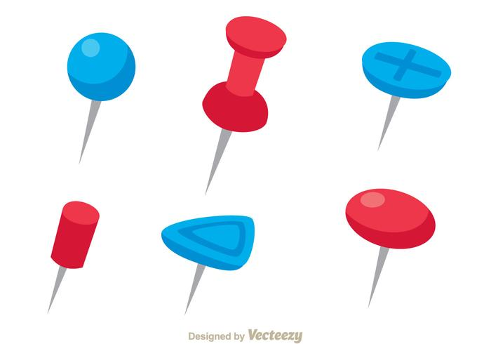 700x490 Red And Blue Push Pin Vectors