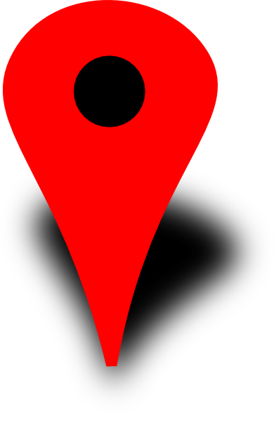 390x599 Red Map Pin With Black Dot Clip Art