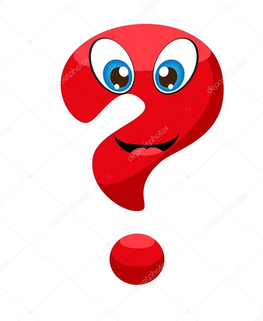 837x1023 Cute Red Question Mark With Eyes And A Smile. Stock Vector