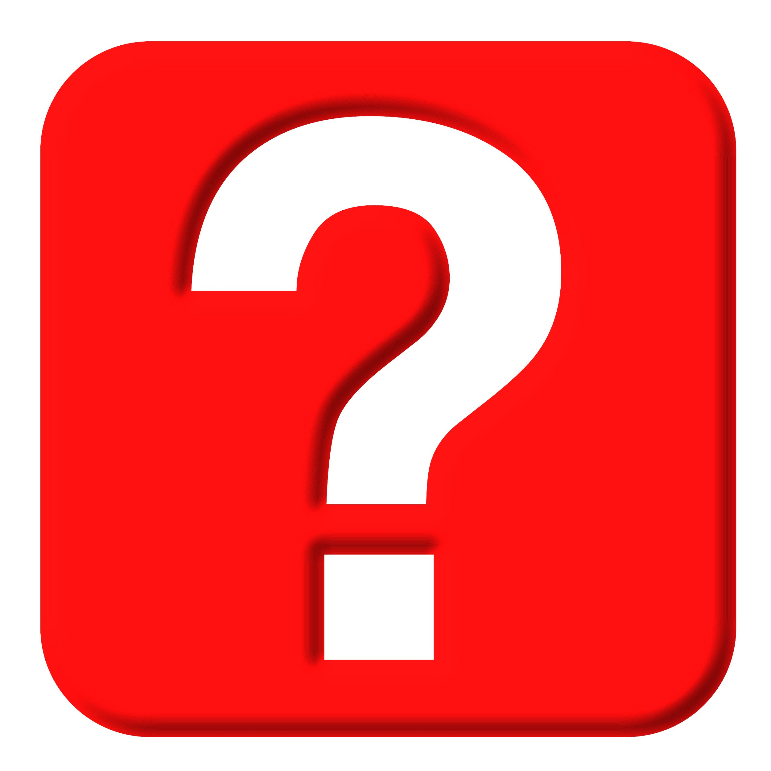 2500x2500 Red Question Mark Clipart