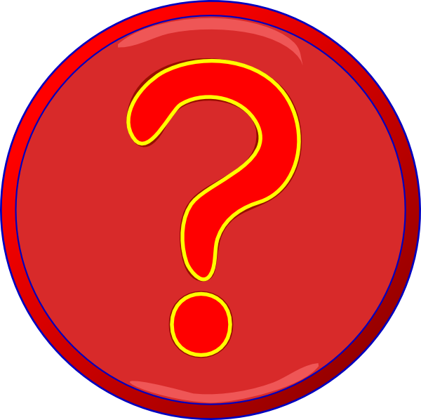 600x598 Red Question Mark Inside Darker Red Circle, Blue Border Png, Svg