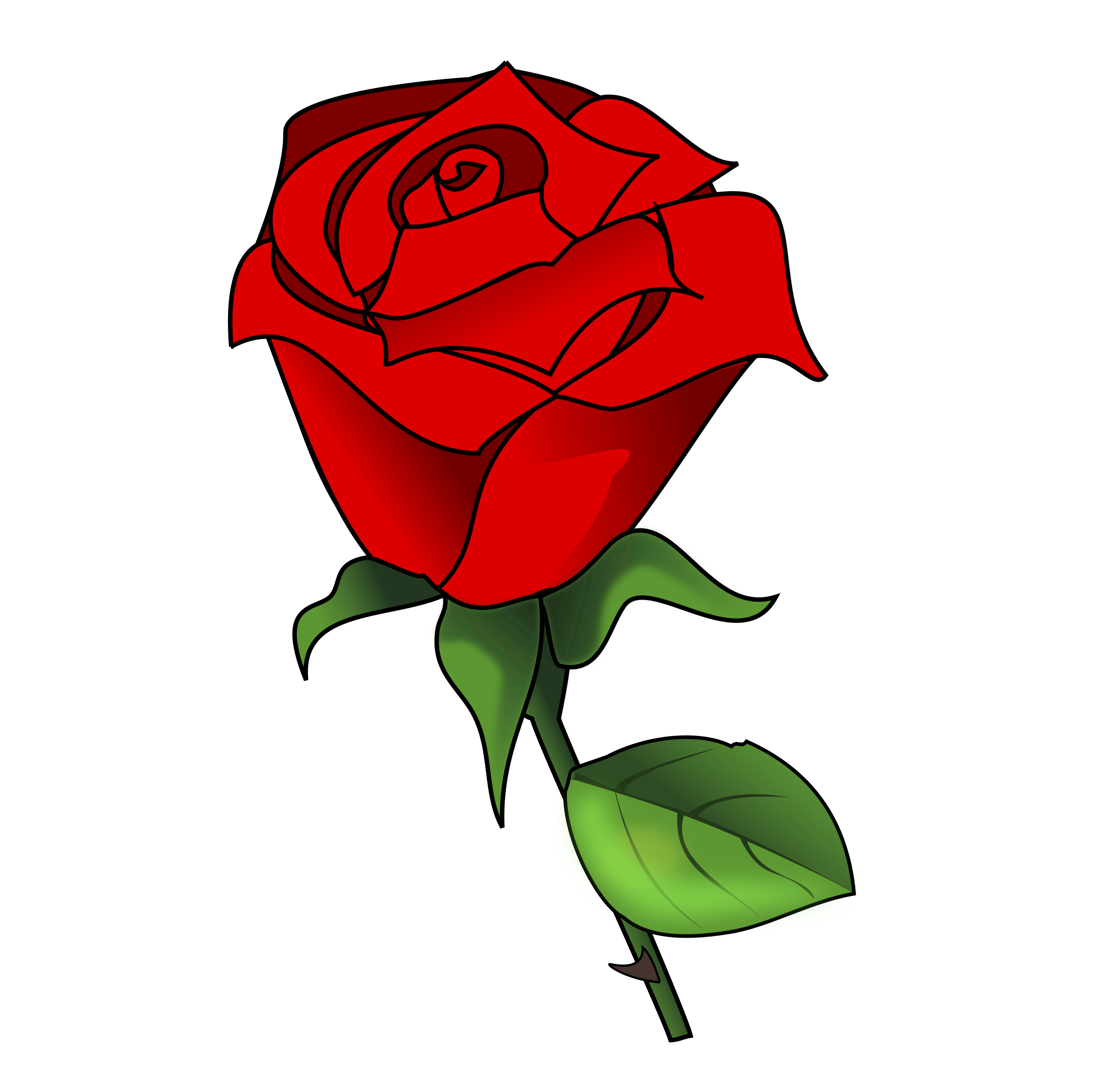 2444x2400 Red Rose Clipart Romance