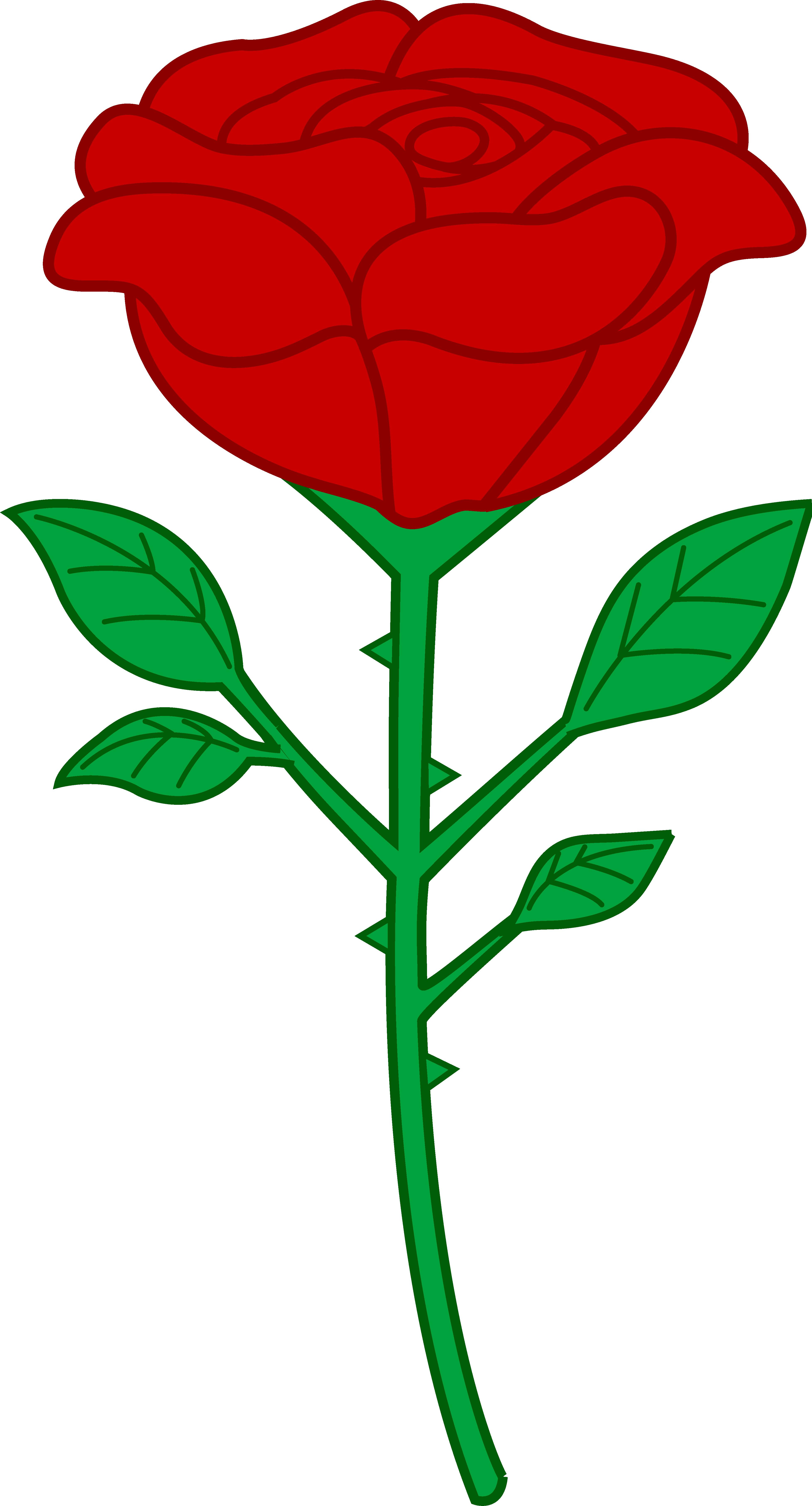 3906x7240 Single Red Rose Clip Art