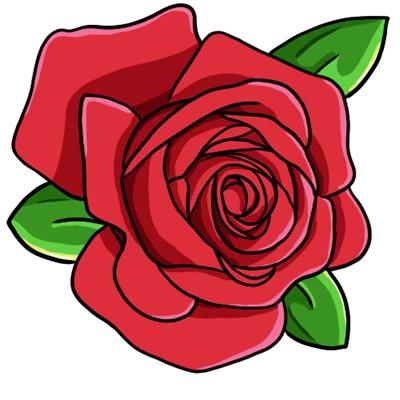 400x400 Red Rose Clip Art