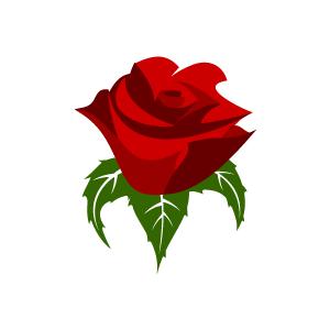 300x300 Red Rose Clip Art
