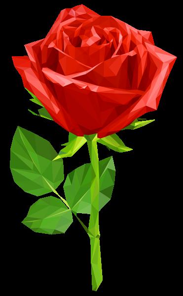 371x600 Crystal Red Rose Transparent Png Clip Art Image