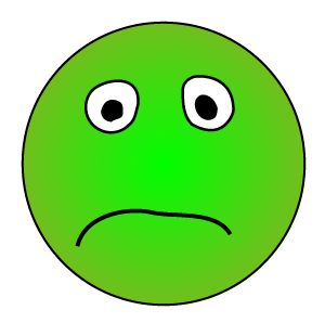 Red Sad Face Clipart