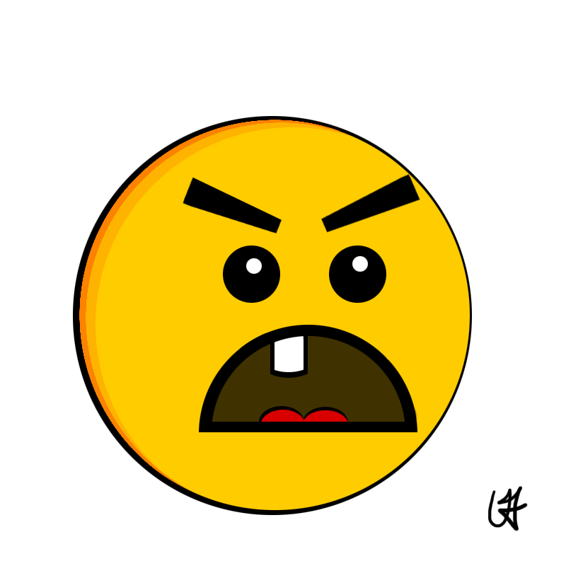 800x800 Frowny Face Clipart