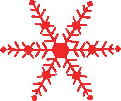 398x331 Snowflake Clipart Red Snowflake
