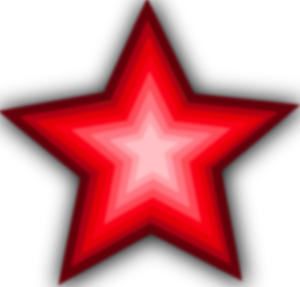 600x574 Red Gradient Star Clip Art Free Vector 4vector