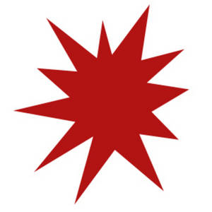 300x300 Clipart Picture Of A Red Star Burst