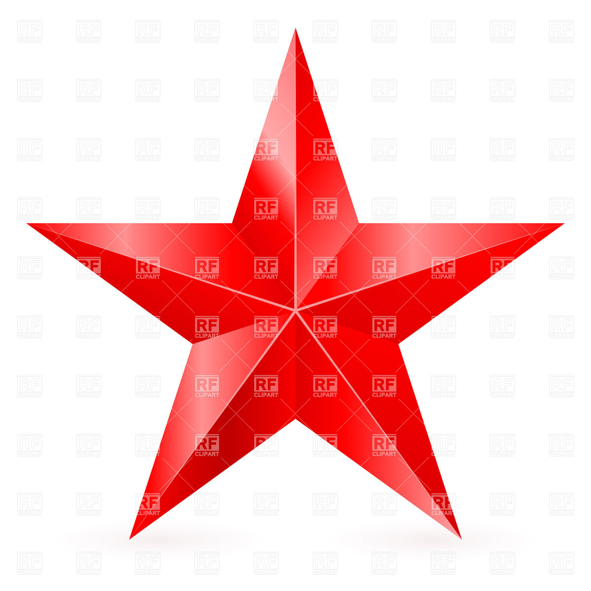 1200x1200 Five Pointed Red Star Royalty Free Vector Clip Art Image