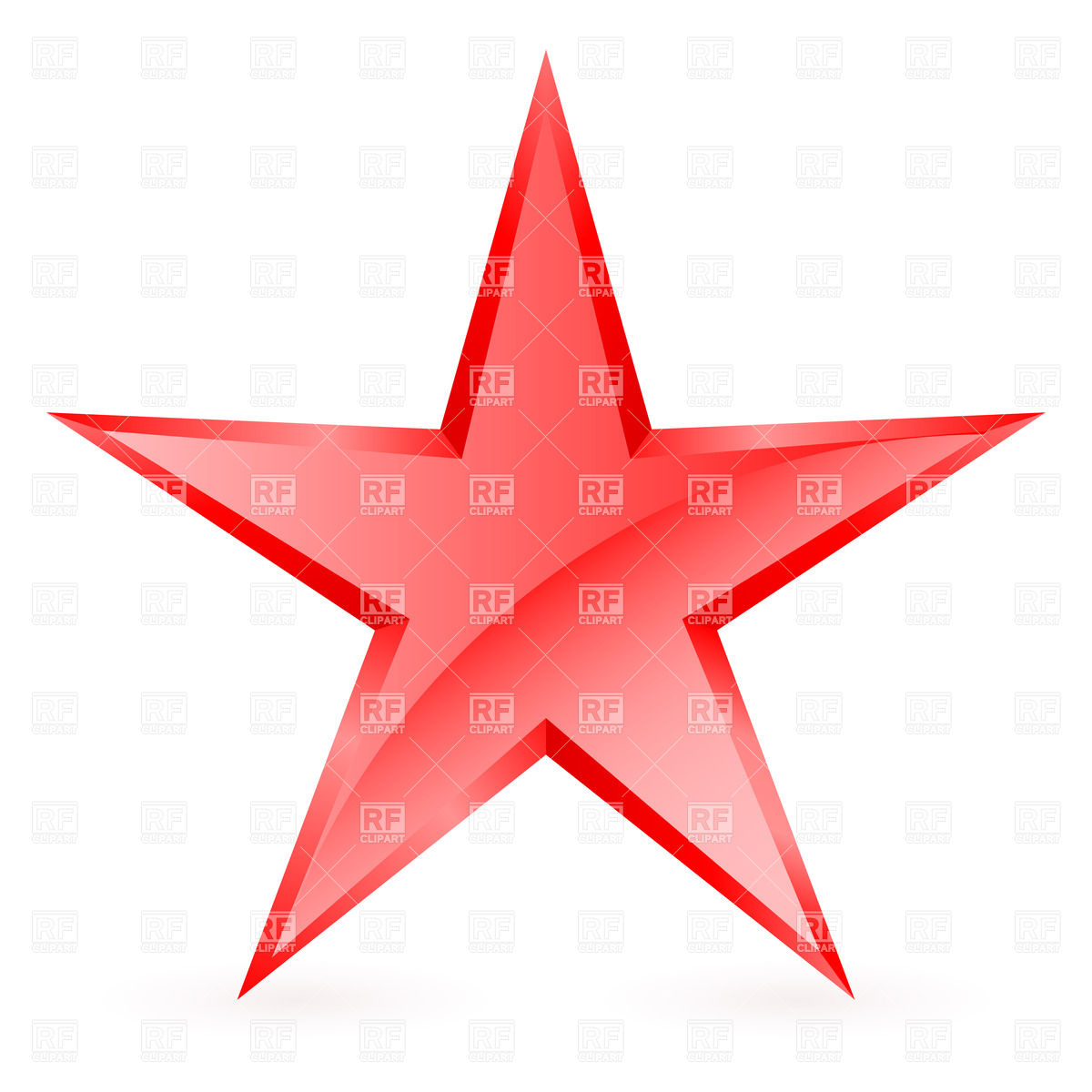 1200x1200 Glossy Five Pointed Red Star On White Background Royalty Free